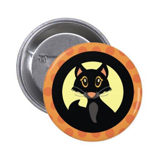 Insignia del Pin del botón de Halloween del gato n