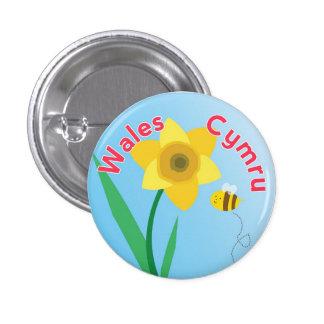 Insignia del Pin del botón del narciso de País de