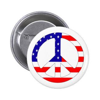 Insignia del Pin del botón del signo de la paz de
