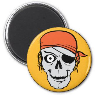 Insignia del pirata de los Undead Imán Redondo 5 Cm