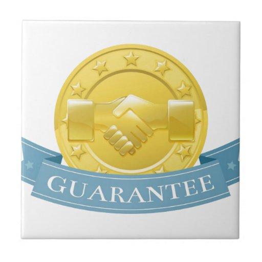 Insignia del premio de la garantía azulejo cuadrado pequeño