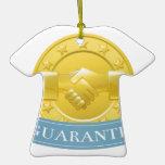 Insignia del premio de la garantía ornaments para arbol de navidad