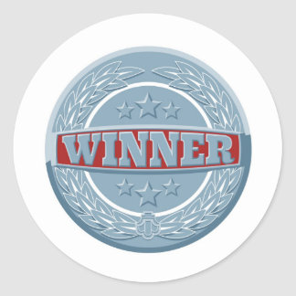 Insignia del premio de los ganadores etiquetas redondas