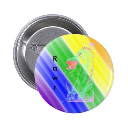 insignia del rawr del arco iris pin