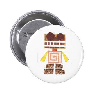 Insignia del robot del chocolate pin redondo 5 cm