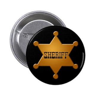 Insignia del sheriff - botón pins