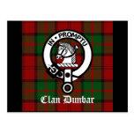 Insignia del tartán y del escudo de Dunbar del Postal