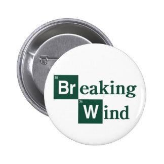 Insignia del viento de fractura pin redondo de 2 pulgadas