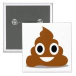 Insignia divertida del botón del Emoticon de Emoji