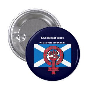 Insignia escocesa de la independencia de las mujer pin redondo de 1 pulgada