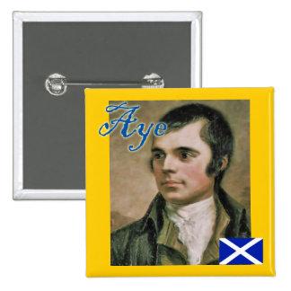 Insignia escocesa de Robert Burns de la independen Pins