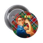 Insignia escocesa de Rosie del tartán de la indepe Pins