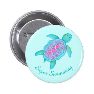 Insignia estupenda del botón de la natación de la