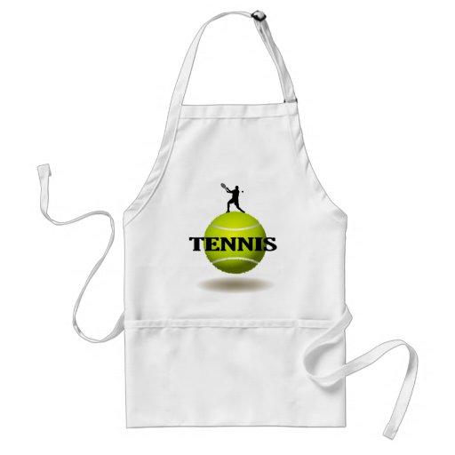 Insignia flotante del tenis delantal