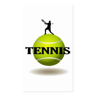 Insignia flotante del tenis tarjetas de visita