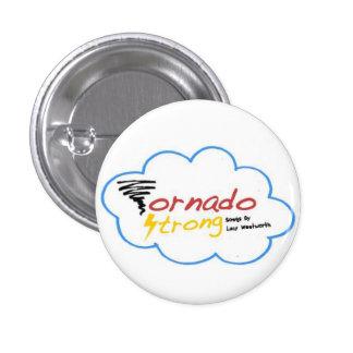 Insignia fuerte del logotipo del tornado pin redondo de 1 pulgada