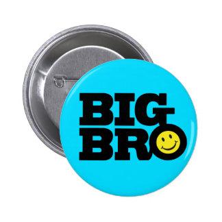 Insignia grande del botón de Bro de la sonrisa en