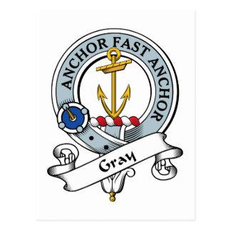 Insignia gris del clan tarjetas postales