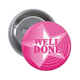 Insignia hecha pozo del botón en rosa pin