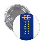 Insignia imperial europea del botón de la bandera pins