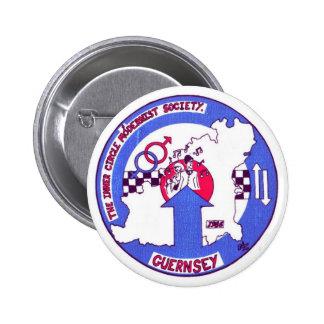 Insignia interna Guernesey de Crcle Pin Redondo De 2 Pulgadas