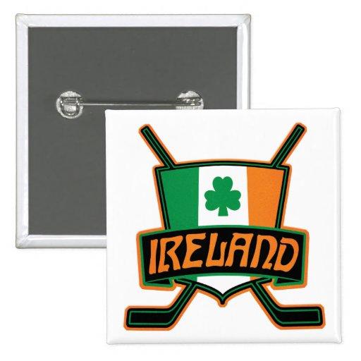 Insignia irlandesa del logotipo de la bandera del pin cuadrado