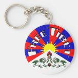 Insignia libre de Tíbet Llavero
