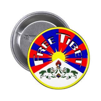 Insignia libre de Tíbet Pin Redondo 5 Cm