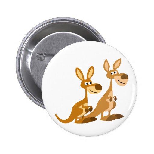 Insignia linda del botón de KangaROOS del dibujo a Pins