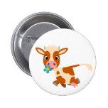 Insignia linda del botón de la vaca el trotar del  pin redondo de 2 pulgadas
