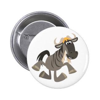 Insignia linda del botón del Wildebeest del baile  Pin Redondo De 2 Pulgadas