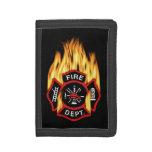 Insignia llameante del cuerpo de bomberos