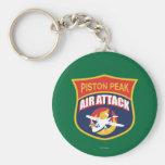 Insignia máxima del ataque aéreo del pistón llavero redondo tipo pin