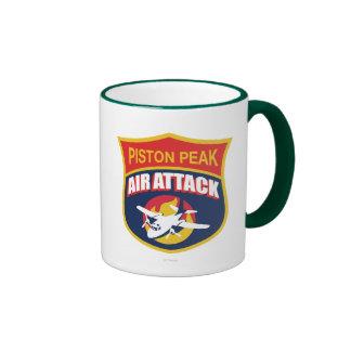 Insignia máxima del ataque aéreo del pistón taza a dos colores