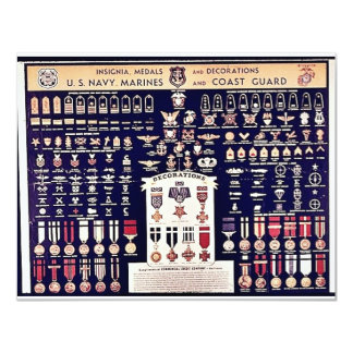 Insignia Medals And Decorations Card
