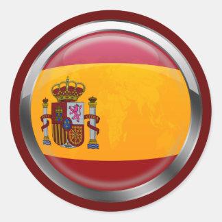 Insignia moderna del emblema de la bandera de pegatina redonda