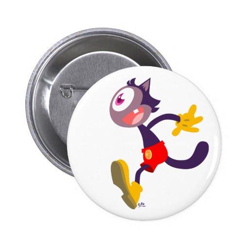 Insignia monocular del botón del dibujo animado de