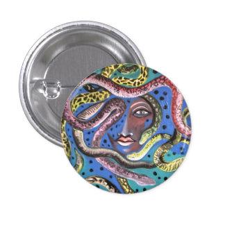 Insignia: Mujer de la serpiente Pin Redondo De 1 Pulgada