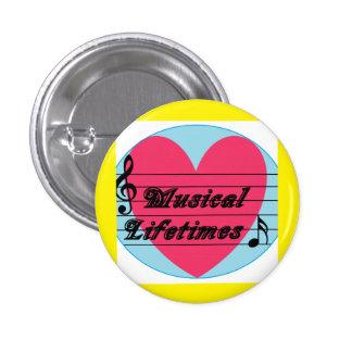 Insignia musical del botón de la música original pin redondo de 1 pulgada