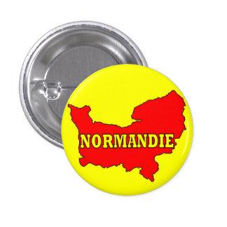 Insignia Normandía Pin Redondo De 1 Pulgada