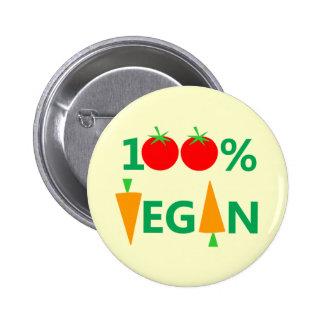 Insignia o botón linda del vegano pin redondo de 2 pulgadas