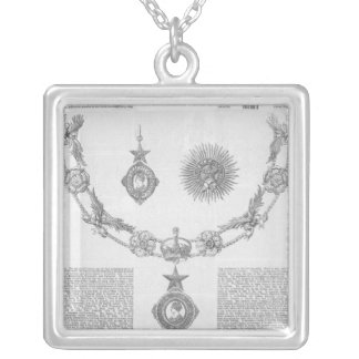Insignia of the Order of Knighthood Square Pendant Necklace