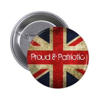 Insignia orgullosa y patriótica de la bandera de pin redondo de 2 pulgadas