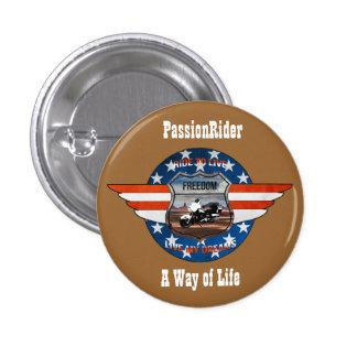 Insignia PassionRider Pin Redondo 2,5 Cm