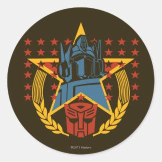 Insignia patriótica de Autobot Pegatina Redonda