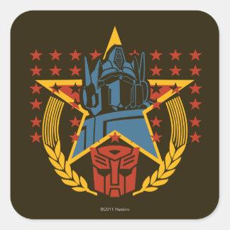 Insignia patriótica de Autobot Pegatinas Cuadradas Personalizadas