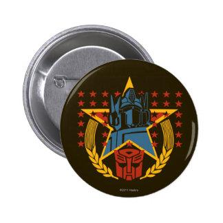 Insignia patriótica de Autobot Pin Redondo De 2 Pulgadas
