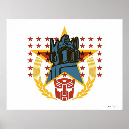Insignia patriótica de Autobot Posters