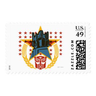 Insignia patriótica de Autobot Sello Postal