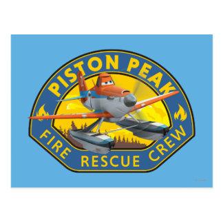 Insignia polvorienta del equipo de rescate del postales